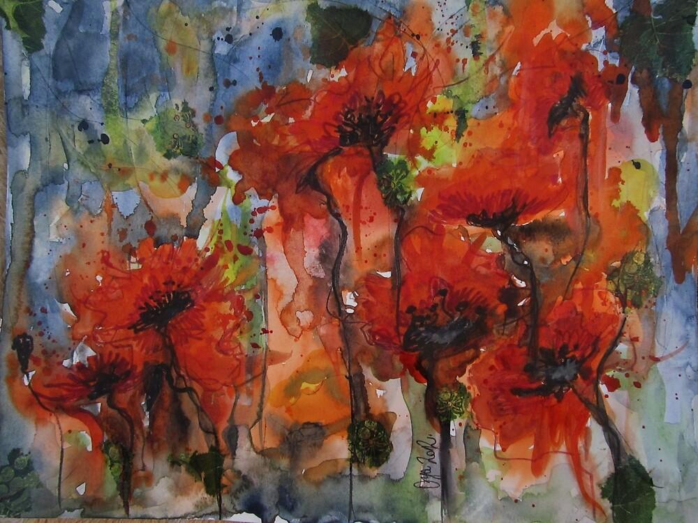 """""""Poppies"""" by Oya Noya"""