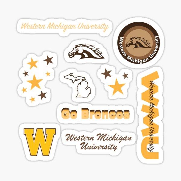 State Boarder Sticker Western Michigan University WMU Broncos NCAA Vinyl Decal Laptop Water Bottle Car Scrapbook