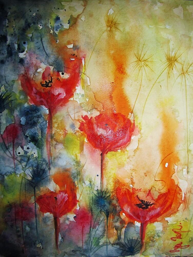 """""""Poppies in the sun"""" by Oya Noya"""