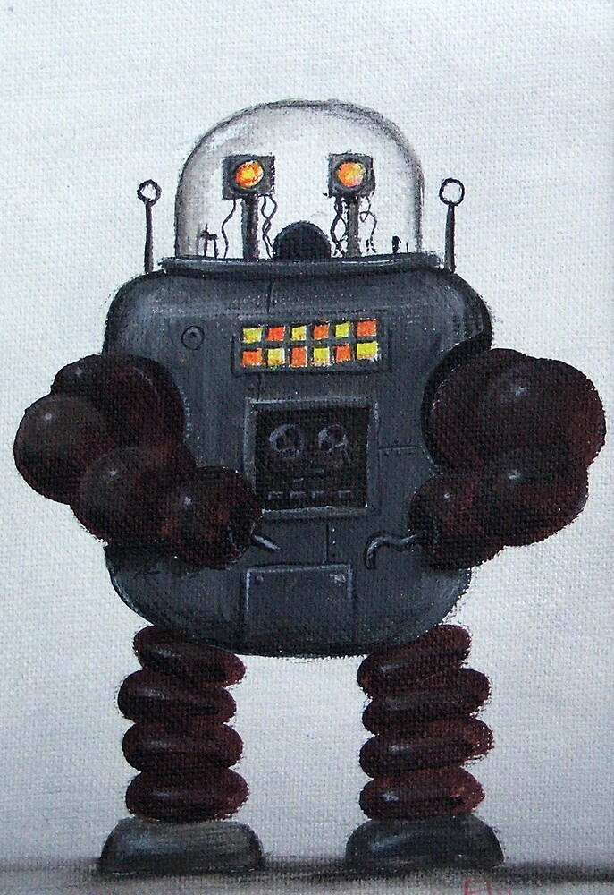 Retro Robot #3 by Lee Twigger