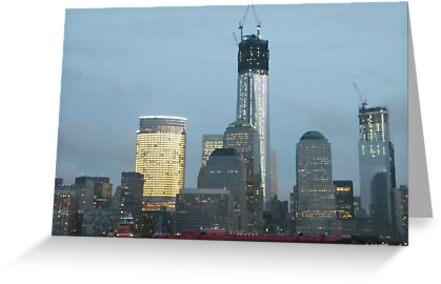The New World Trade Center at Dusk, Lower Manhattan, New York City by lenspiro