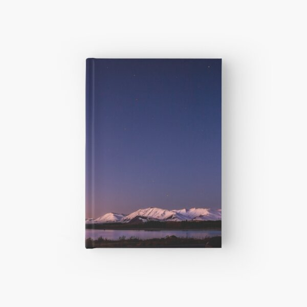 Lake Tekapo Sunset Stars Hardcover Journal