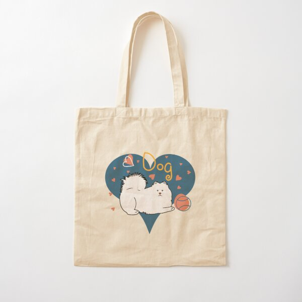 Love Samoyed Dog Cotton Tote Bag