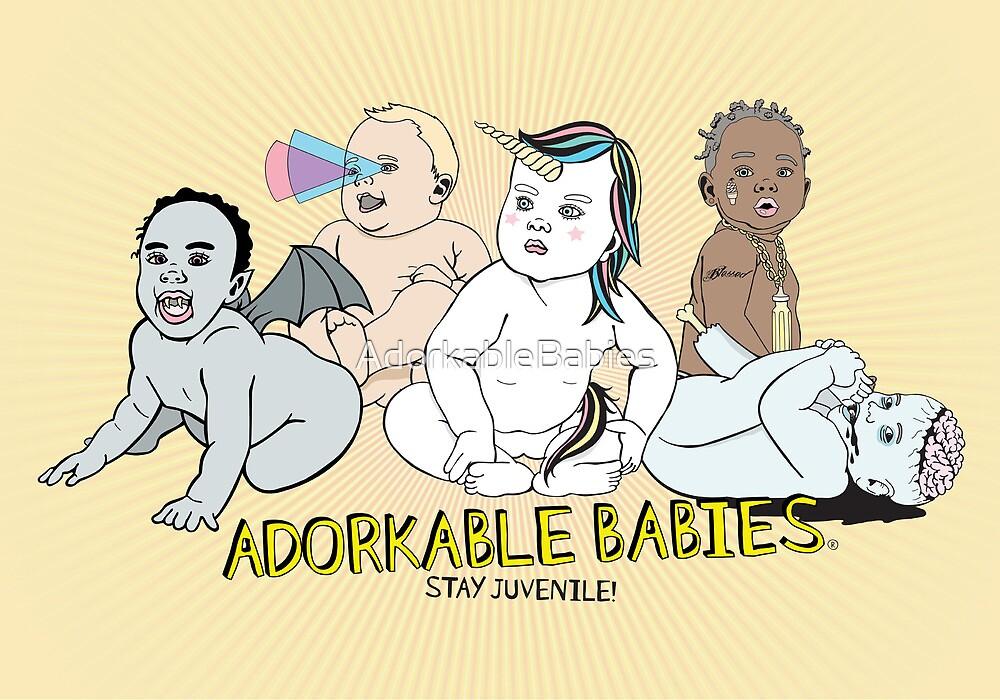 Adorkable Babies, Stay Juvenile, Matte Print by AdorkableBabies