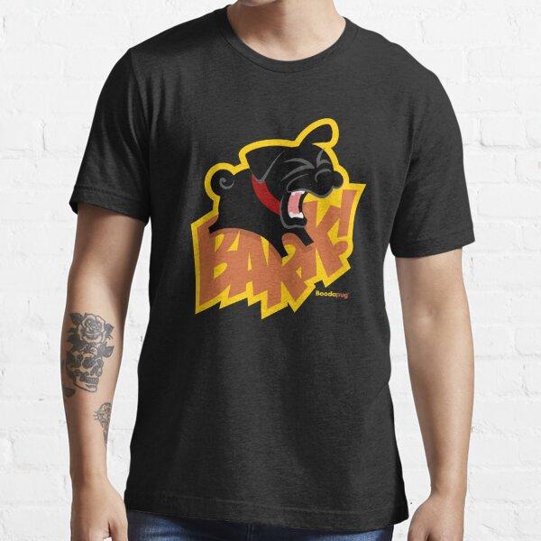 Black Pug BARK! Essential T-Shirt