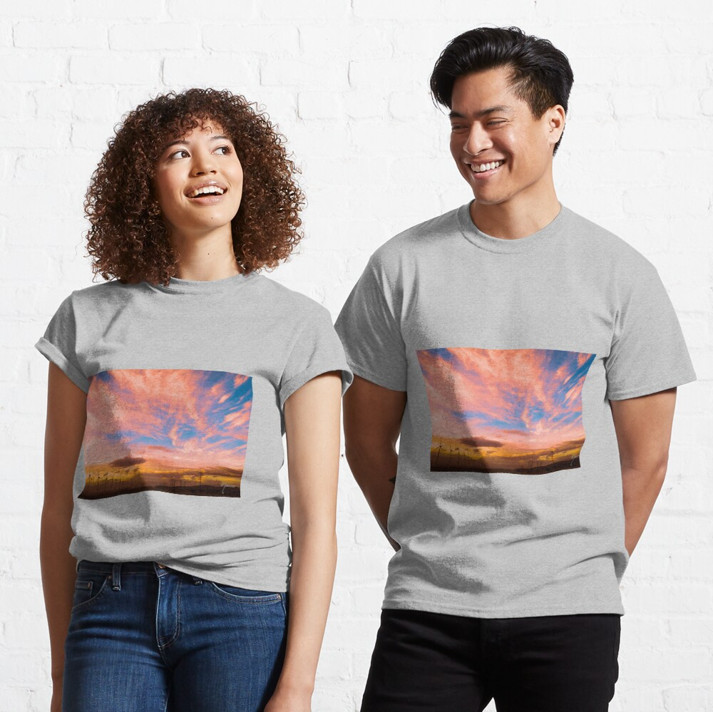 0278 Southern California Desert Sunsets - A Landscape of Fiery Colors Classic T-Shirt