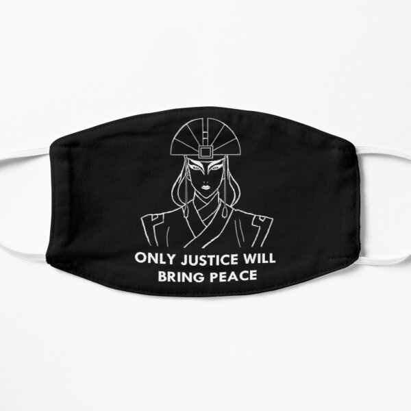Avatar Kyoshi - Only Justice Will Bring Peace (White Print) Flat Mask