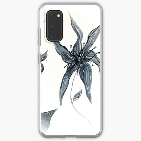 Monochrome Flower Samsung Galaxy Soft Case