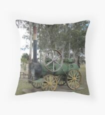 Steam Tractor of Yesteryear, Dirranbandie. Castlereagh Hwy.  Throw Pillow