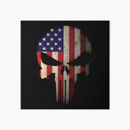 American Flag Skull Art Board Print