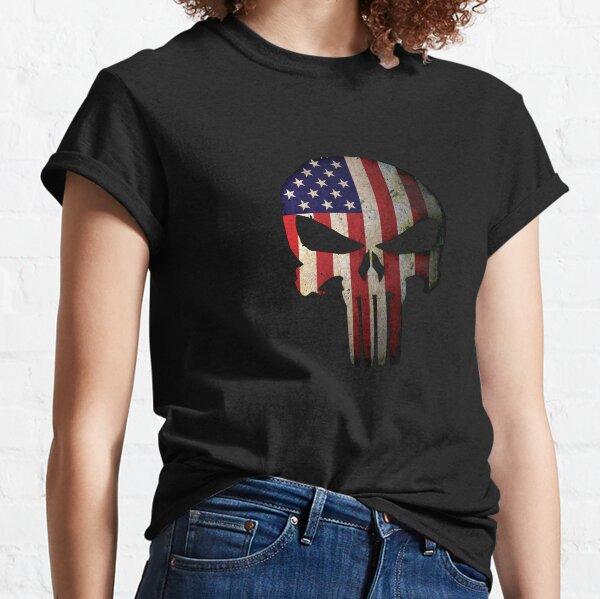 American Flag Skull Classic T-Shirt