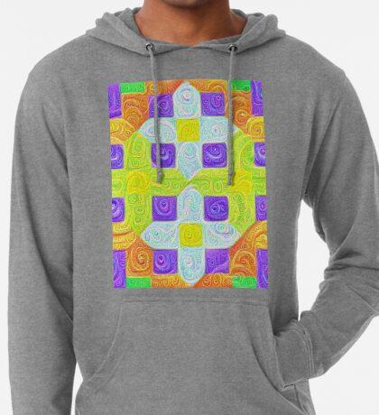 #DeepDream Color Squares Visual Areas 5x5K v1448291932 Lightweight Hoodie