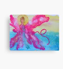 Breast Cancer Angel Canvas Print