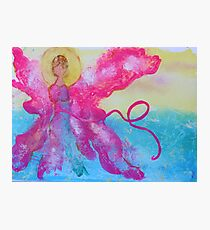 Breast Cancer Angel Photographic Print