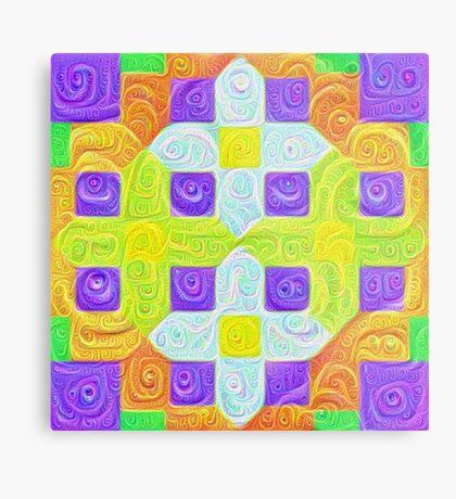 #DeepDream Color Squares Visual Areas 5x5K v1448291932 Metal Print