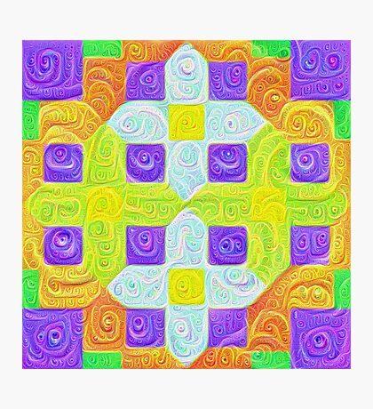 #DeepDream Color Squares Visual Areas 5x5K v1448291932 Photographic Print