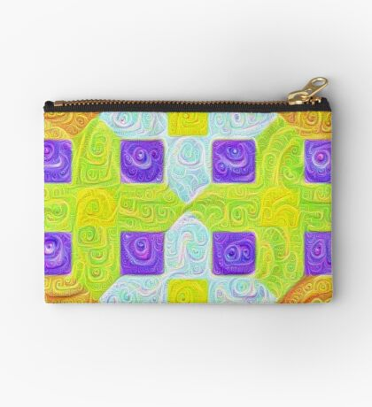 #DeepDream Color Squares Visual Areas 5x5K v1448291932 Zipper Pouch