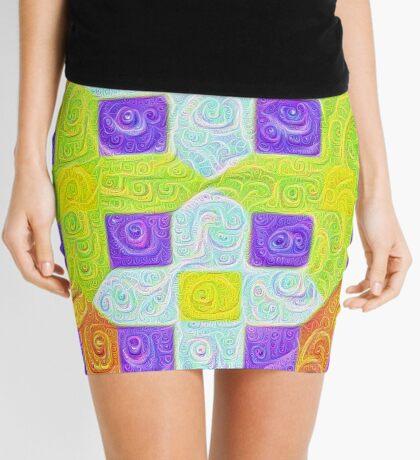 #DeepDream Color Squares Visual Areas 5x5K v1448291932 Mini Skirt