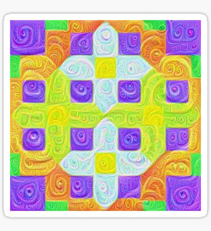 #DeepDream Color Squares Visual Areas 5x5K v1448291932 Sticker