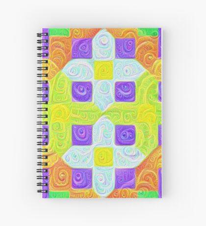 #DeepDream Color Squares Visual Areas 5x5K v1448291932 Spiral Notebook