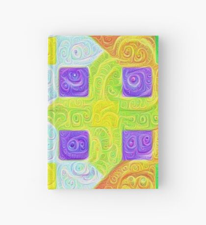 #DeepDream Color Squares Visual Areas 5x5K v1448291932 Hardcover Journal