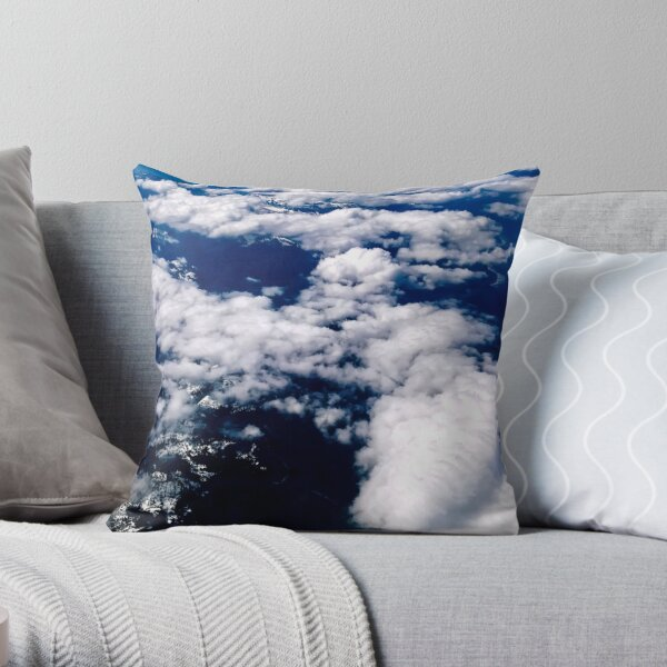 3024 Aerial Landscape of Vancouver en route to Kelowna, British Columbia, Canada Throw Pillow
