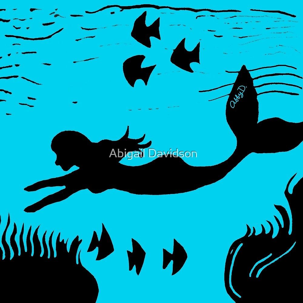 Mermaid Silhouette Art by Abigail Davidson