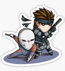 MGS1: Fox and Snake Sticker