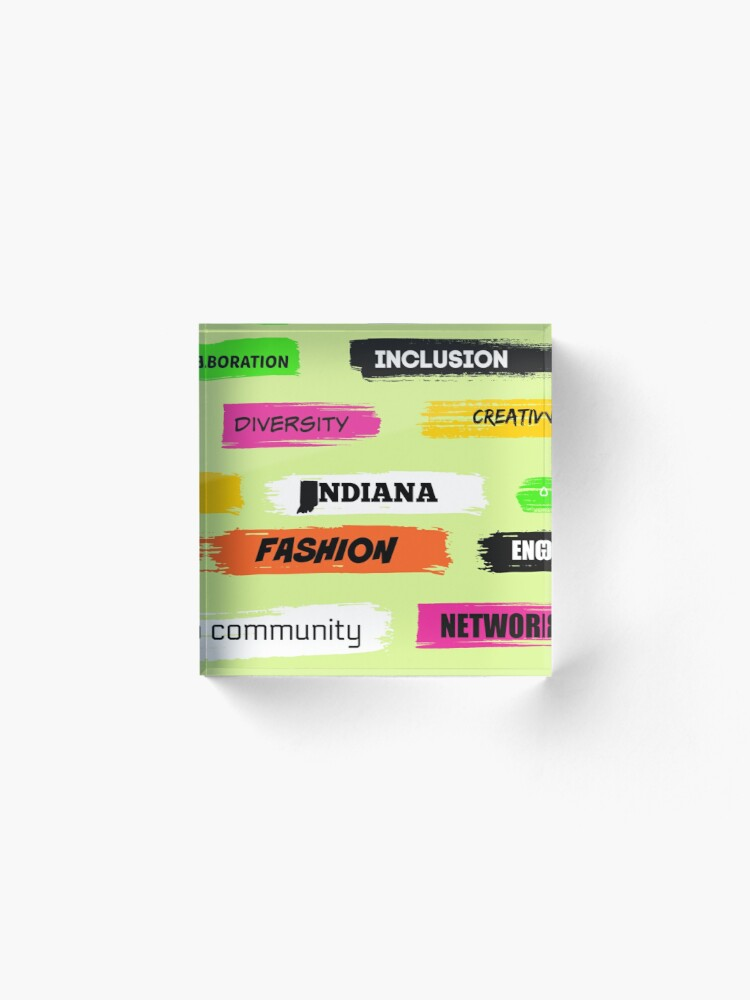 Alternate view of  Words Print- Diversity-Inclusion- Indiana Fashion Acrylic Block