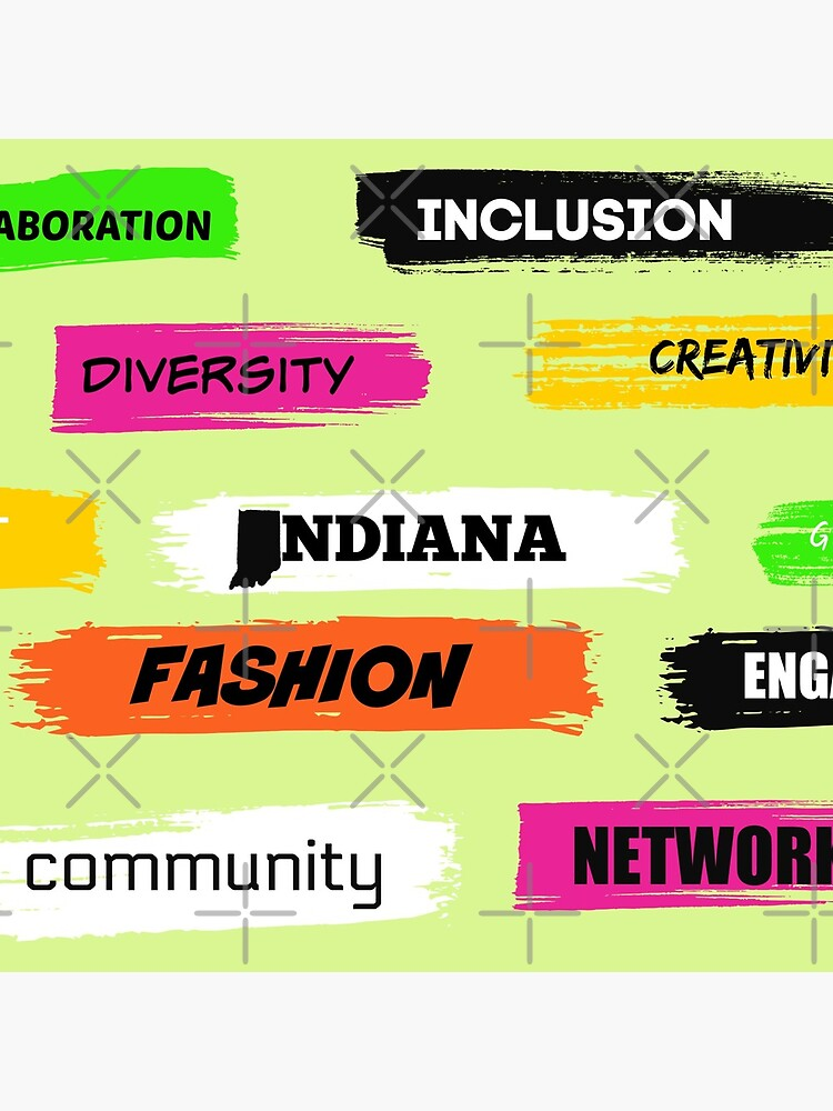 Words Print- Diversity-Inclusion- Indiana Fashion by Matlgirl