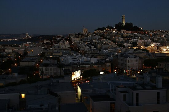 Here Comes the Night ~ Coit Tower by fototaker