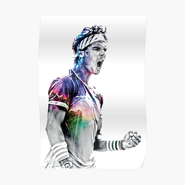 Rafael Nadal, Awesome Merch in Galaxy Effext. Poster