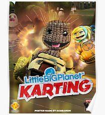LittleBigPlanet Karting Burn Rubber Poster