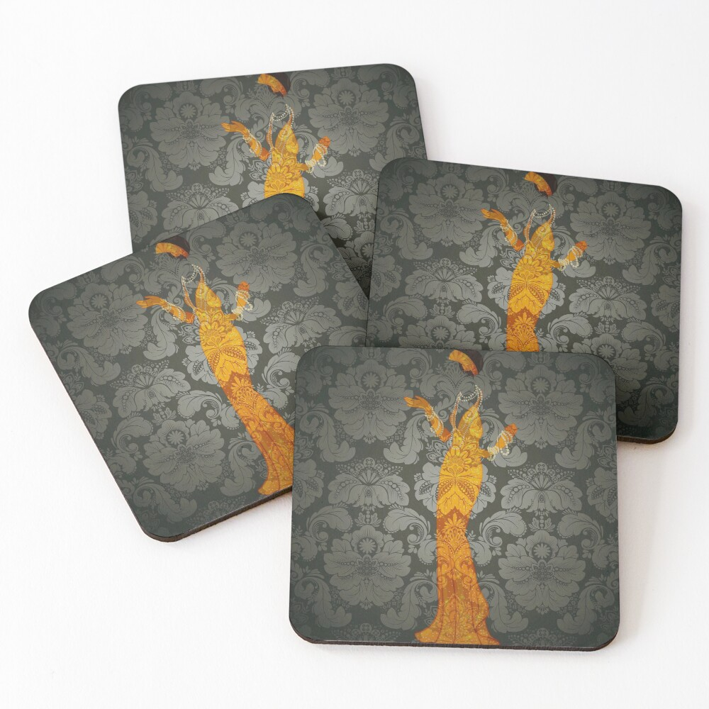 The Ghost Downstairs Coasters (Set of 4)