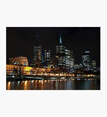 0352 Melbourne at night Photographic Print
