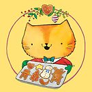 Cute Christmas Cat with Gingerbread Cookies by colonelle