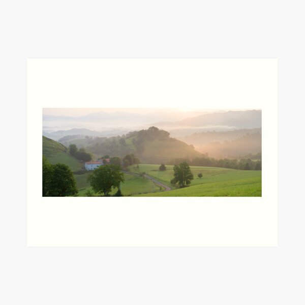 French Pyrenees above St Jean Art Print