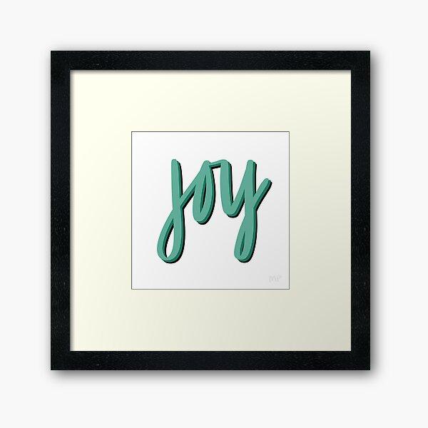 All the JOY (Green) Framed Art Print