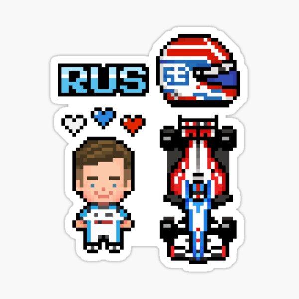 Pixel George Russell 2020 Sticker