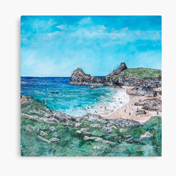 Kynance Cove Summer, Cornwall Art Canvas Print