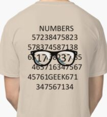 NUMBERS GEEK Classic T-Shirt