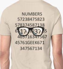 NUMBERS GEEK Unisex T-Shirt