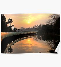 Sunrise, Tiamming Temple, Changzhou Poster