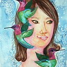 Hummingbirds for Shereen by Picatso