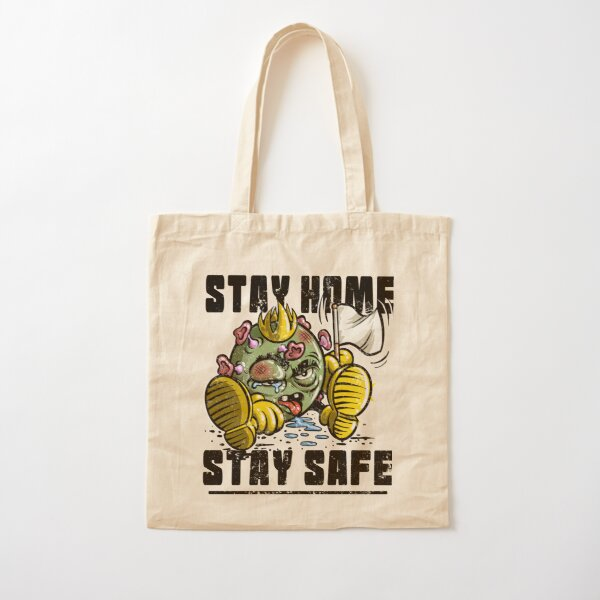 Beat Coronavirus Stay Home Stay Safe Cotton Tote Bag