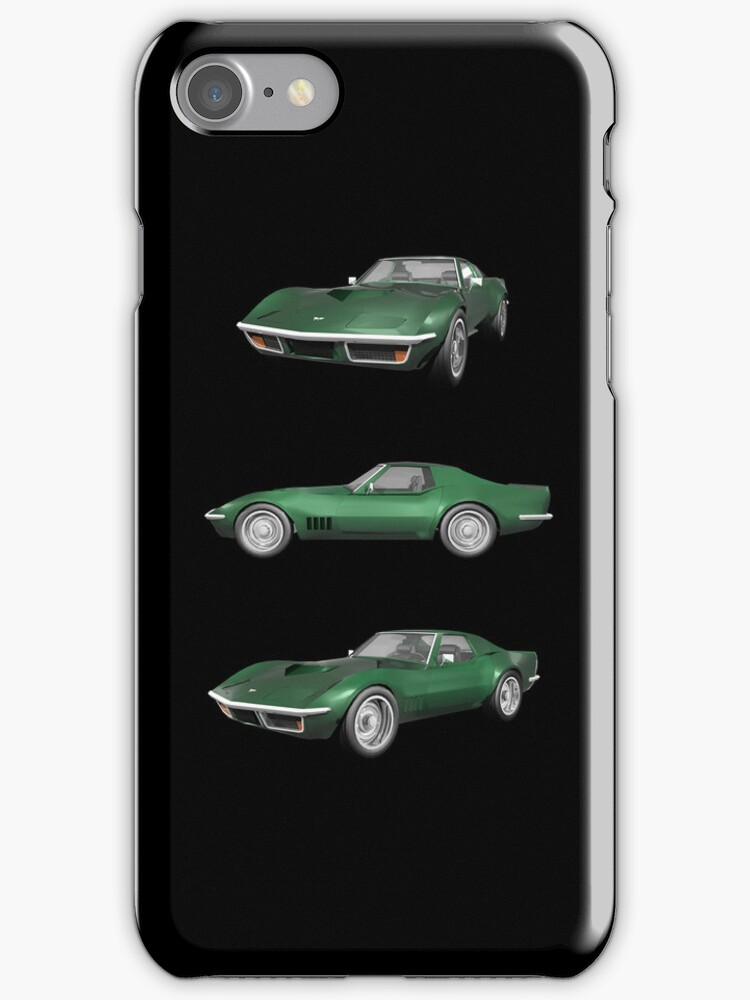 Green 1970 Corvette by bradyarnold