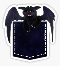 toothless in a pocket Sticker