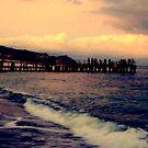Black Sea  / Twilight Fishing Pier   by fiat777