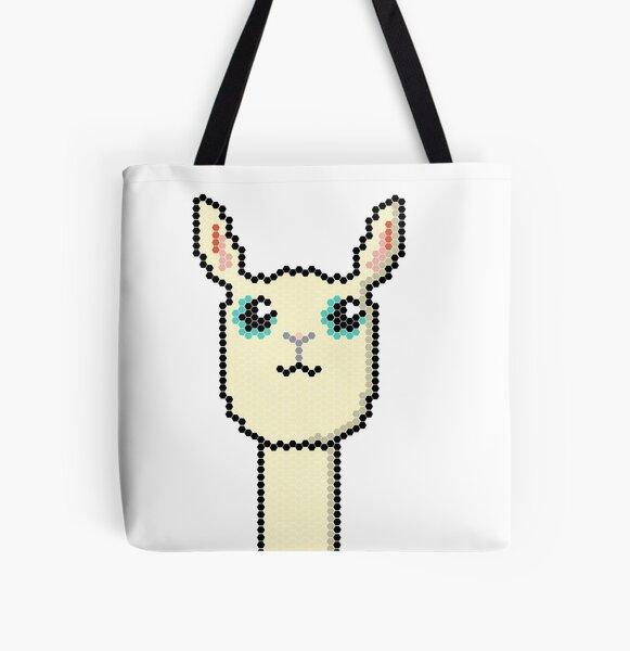 Llama pixel All Over Print Tote Bag