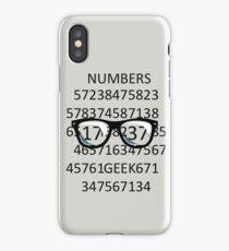 NUMBERS GEEK iPhone Case